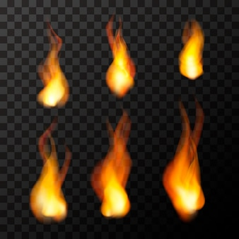 Flammes de feu vives