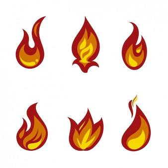 Flammes d'incendie