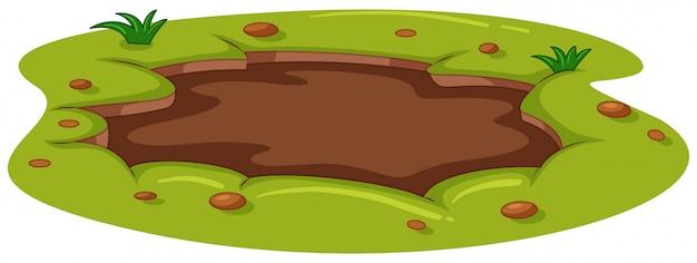 Flaque boueuse sur le sol