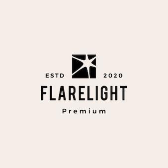 Flare light hipster logo vintage icône illustration