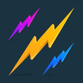 Flash 3d thunder set sur le noir