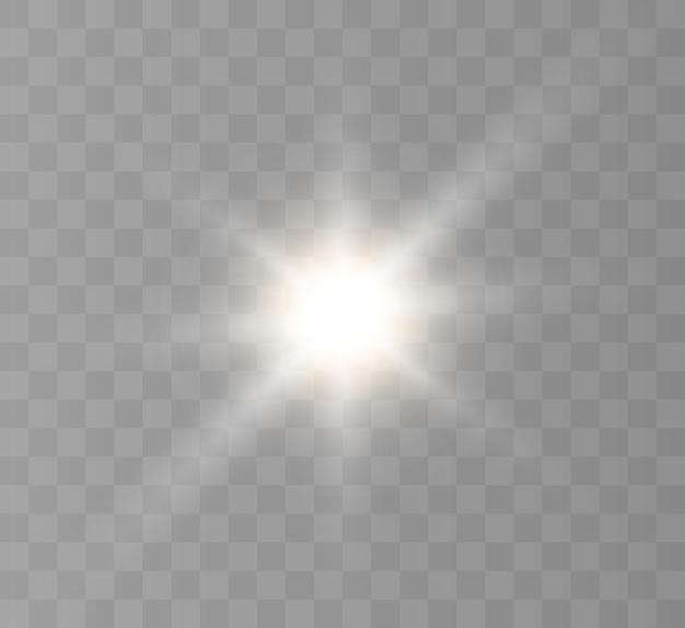 Un flash lumineux de lumière scintillante