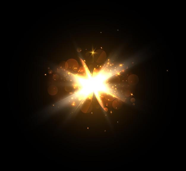Un flash lumineux de scintillement de lumière isolé