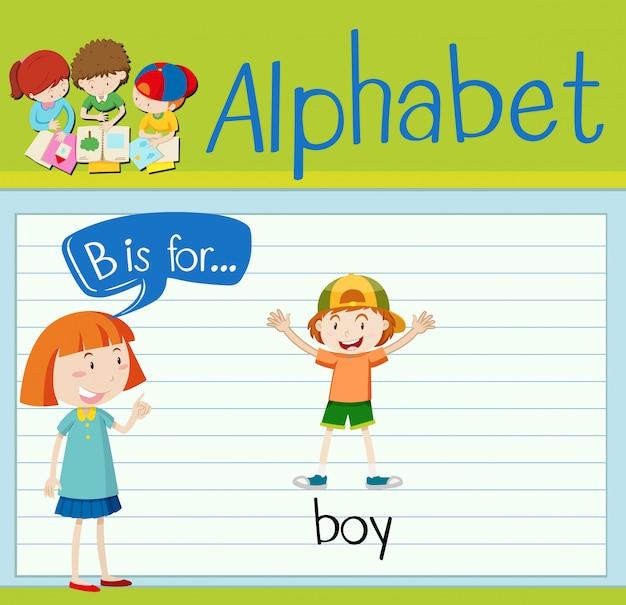 Flashcard lettre b est pour garçon