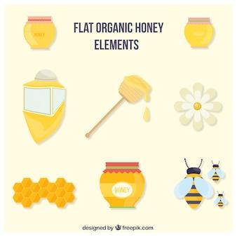 Flat accessoires de miel biologique créés