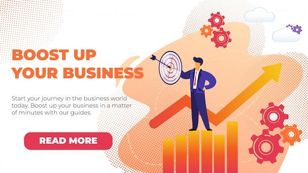 Flat banner boostez votre entreprise avec la promotion.