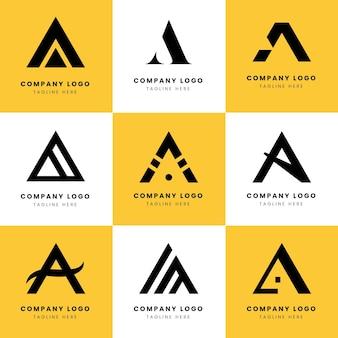 Flat une collection de modèles de logo