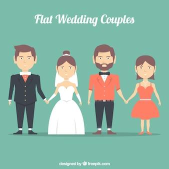 Flat couples de mariage