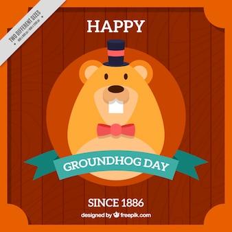 Flat groundhog day backlground