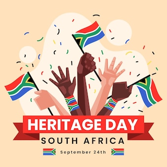 Flat heritage day afrique du sud