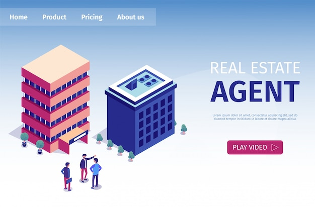 Flat is written real estate agent page de destination