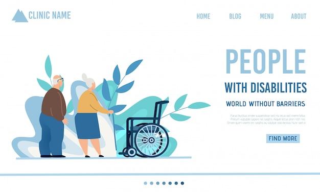 Flat landing page offre des soins infirmiers ou à domicile