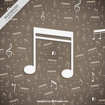 Flat notes de musique de fond