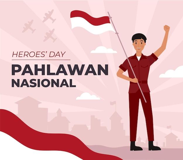 Flat pahlawan / jour des héros