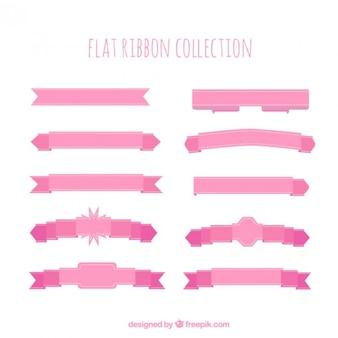 Flat rétro rubans de couleur rose