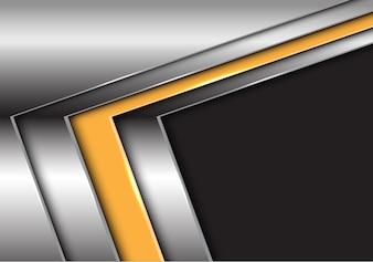 Flèche abstraite en argent jaune