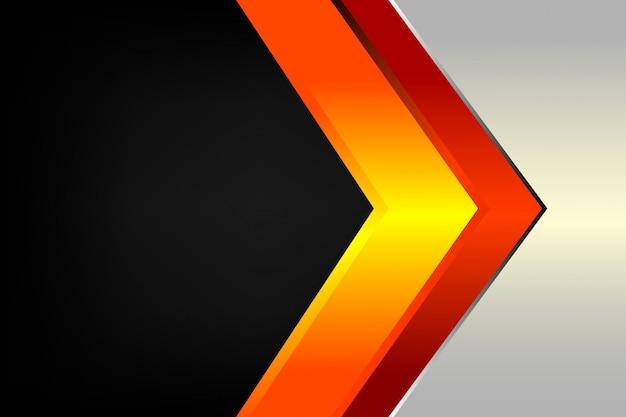 Flèche abstraite ligne moderne