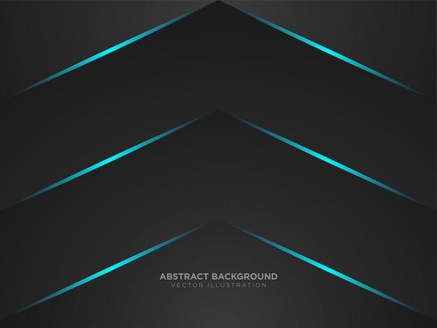 Flèche abstraite vers le haut de mise en page de couleur noire métallique technologie moderne
