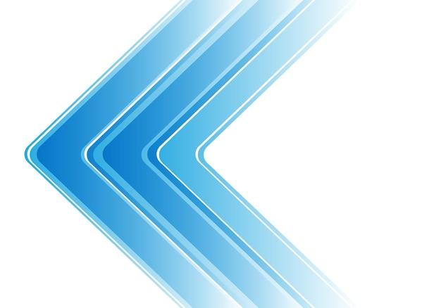 Flèche bleue abstraite sur fond moderne blanc