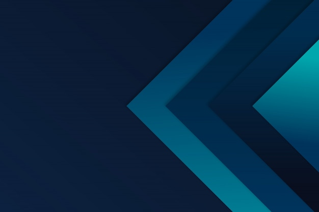 Flèche bleue angle fond vecteur