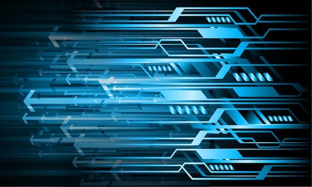 Flèche bleue fond de concept futur technologie cyber circuit
