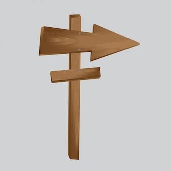 Flèche en bois