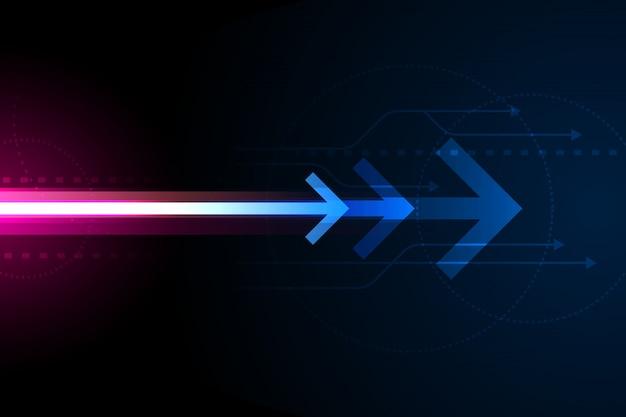 Flèche de communication numérique, fond de technologie de réseau abstrait, concept en ligne de signal internet, composition de l'espace de copie.