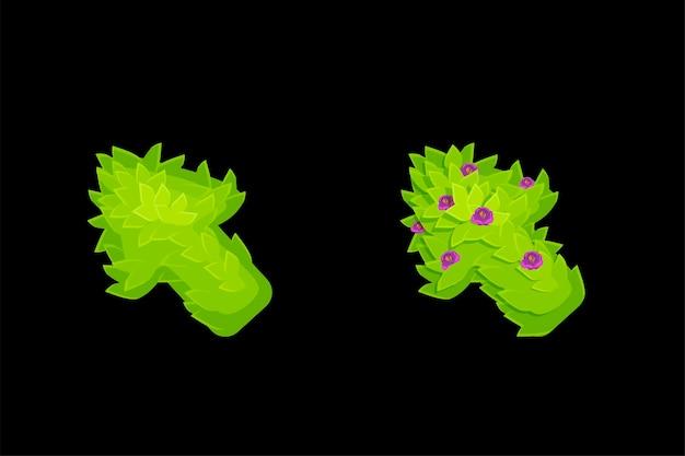 Flèche décorative ou curseur de feuilles vertes et de fleurs