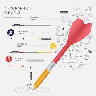 Flèche de dessin au crayon flèche de ligne