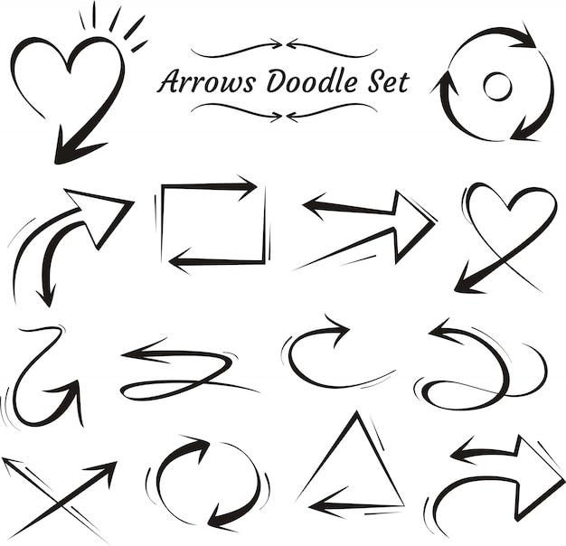 Flèche doodle