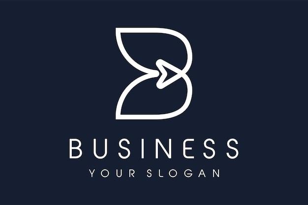 Flèche du logo b. b lettre design vector illustration icône de monogramme moderne.