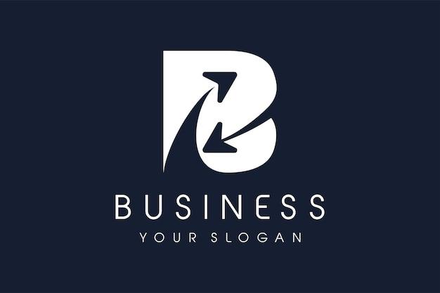 Flèche du logo b. lettre b conception illustration vectorielle.