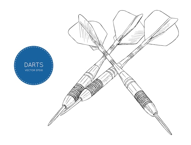 Flèche fléchettes vector illustration