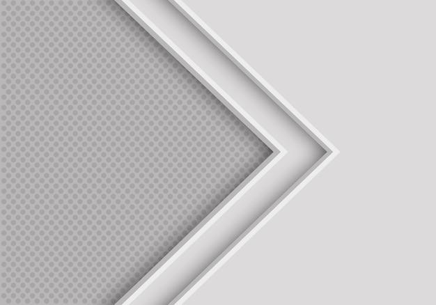 Flèche grise douce avec fond de cercle.