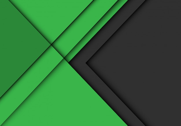 La flèche grise se chevauchent sur fond futuriste moderne vert.