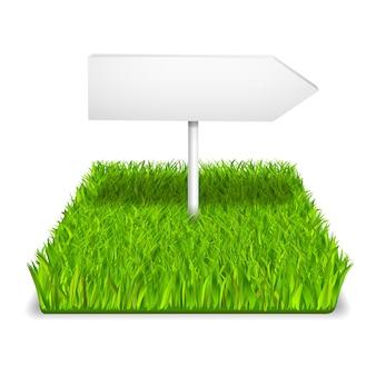 Flèche d'herbe verte