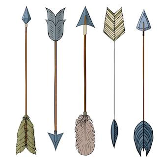 Flèche indienne traditionnelle.
