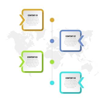 Flèche infographie chronologie stratégie commerciale