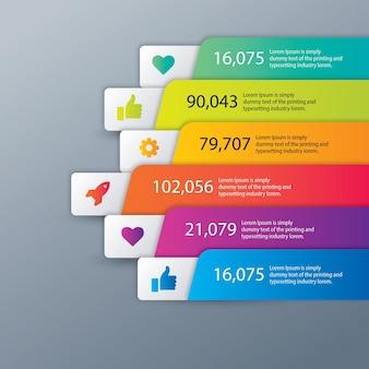 Flèche infographie processus en 6 étapes