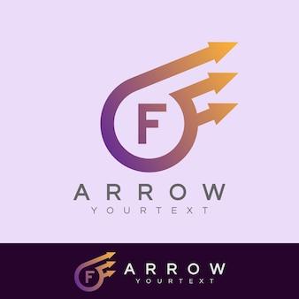 Flèche initiale lettre f création de logo
