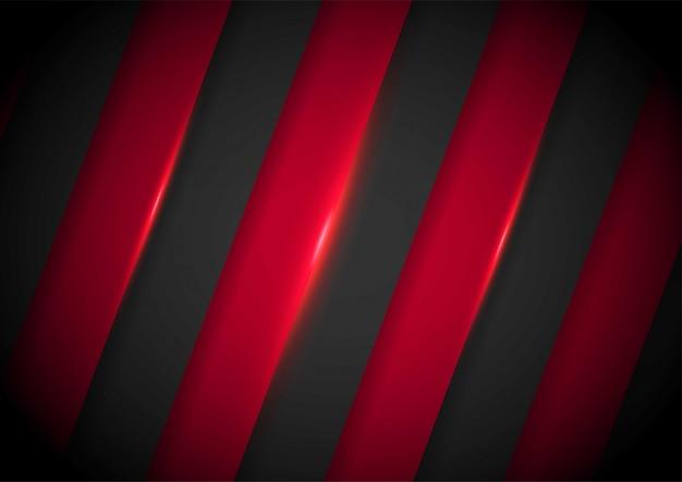 Flèche de lumière rouge noire avec un fond de maillage ondulé