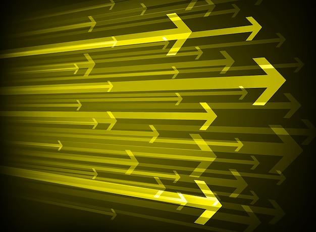 Flèche lumière technologie abstraite contexte