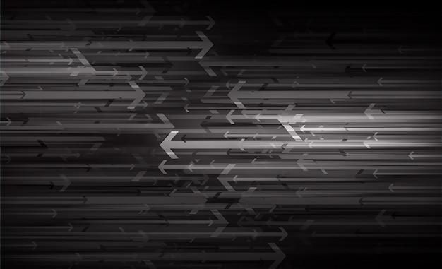 Flèche noire fond abstrait technologie abstraite