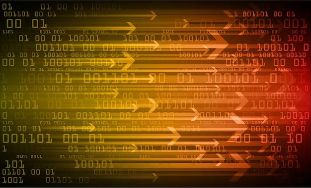 Flèche orange cyber-circuit futur concept de technologie de fond