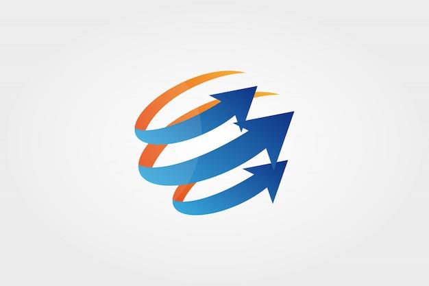 Flèche, portée, élément de conception de cercle.