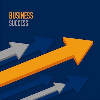 Flèche de premier plan pour le succès de l'entreprise