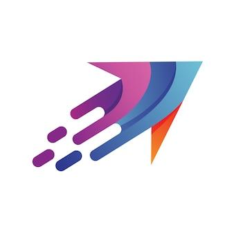Flèche rapide logo vector
