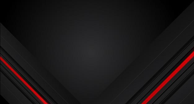 Flèche rouge abstraite sur fond gris futuriste moderne de conception de cercle gris foncé
