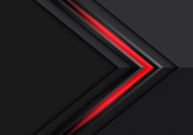 Flèche rouge gris clair direction sur fond futuriste moderne design sombre.