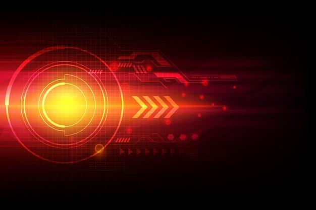 Flèche technologie d'automatisation abstrait laser